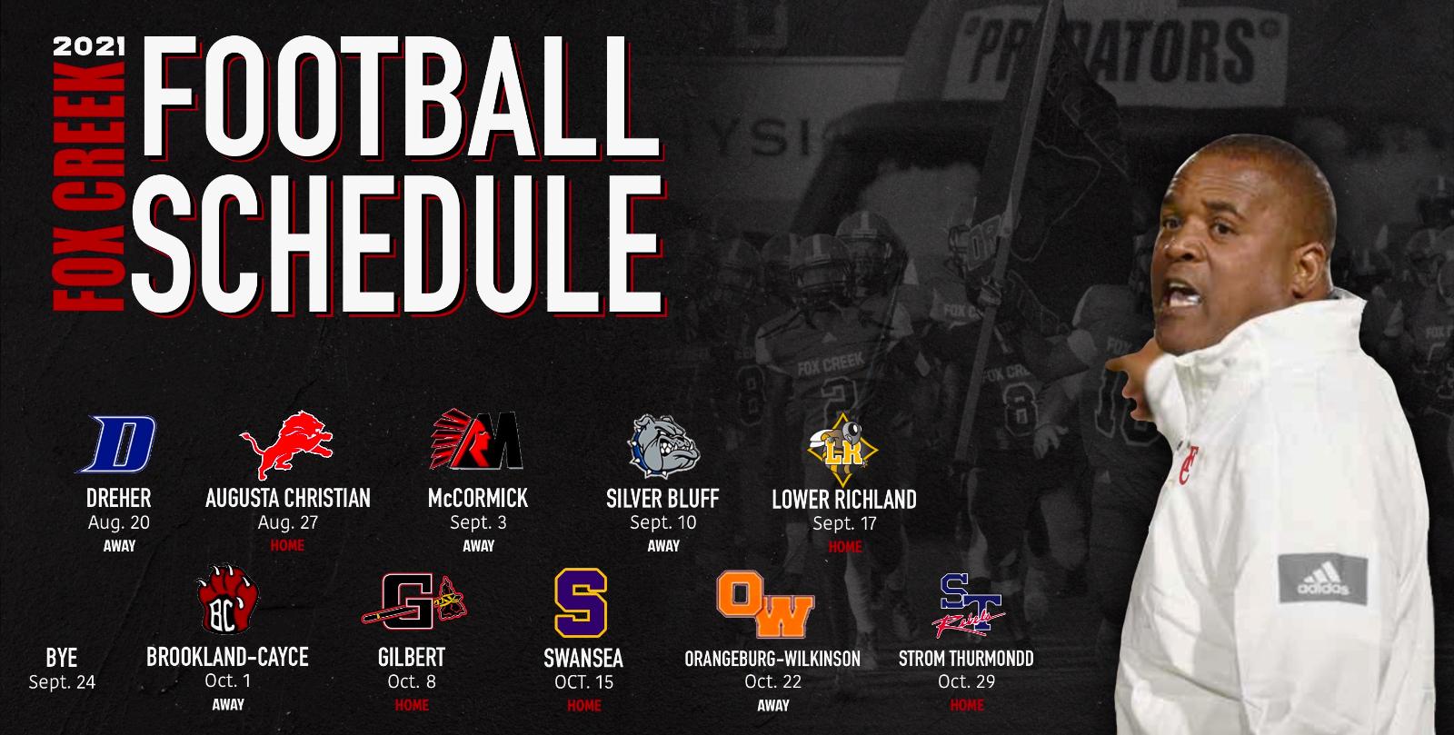 2021 Fox Creek Varsity Football Schedule Released