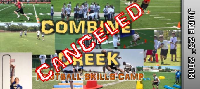 COMBINE IN THE CREEK CANCELED