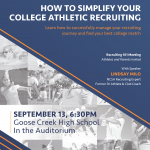 Upcoming Meeting -Recruiting and NCAA info-
