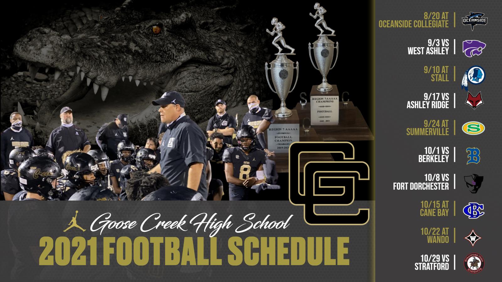 2021 Varsity Football Schedule Released