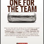 Chipotle Team Spirit Night for Tennis September 2
