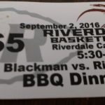 BBQ Dinner – Blackman Night – September 2nd