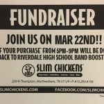 The Band has a Fund-Raiser at Slim Chickens Wednesday