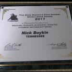 Nick Boykin wins prestigious wrestling award