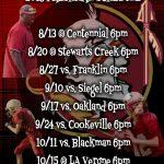 Freshmen Football Schedule Posted