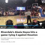 Riverdale's Alasia Hayes hits a game-tying 3 against Houston