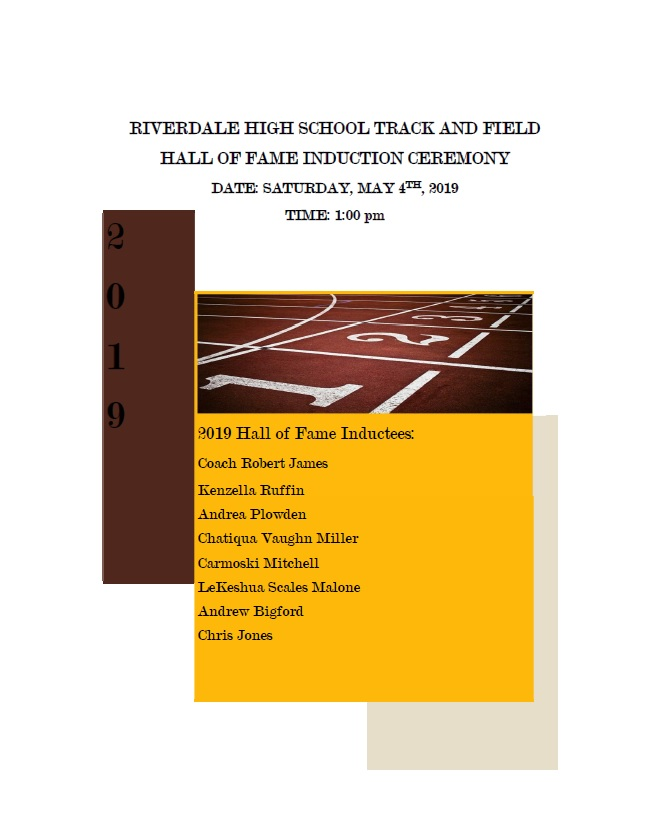 Inaugural Track and Field Hall of Fame Induction Ceremonies