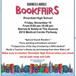 Barnes & Noble Book Fair – Friday, November 15