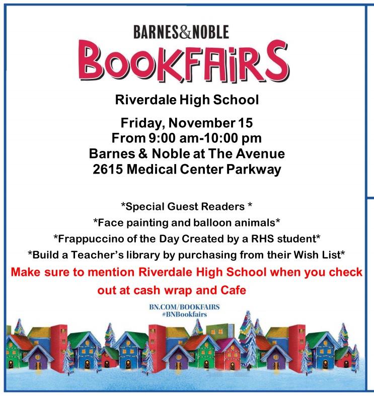 Barnes & Noble Book Fair – Friday, November 15