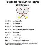 2020 Tennis Schedule