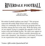 Riverdale Football Lift-A-Thon is Underway – Please Donate