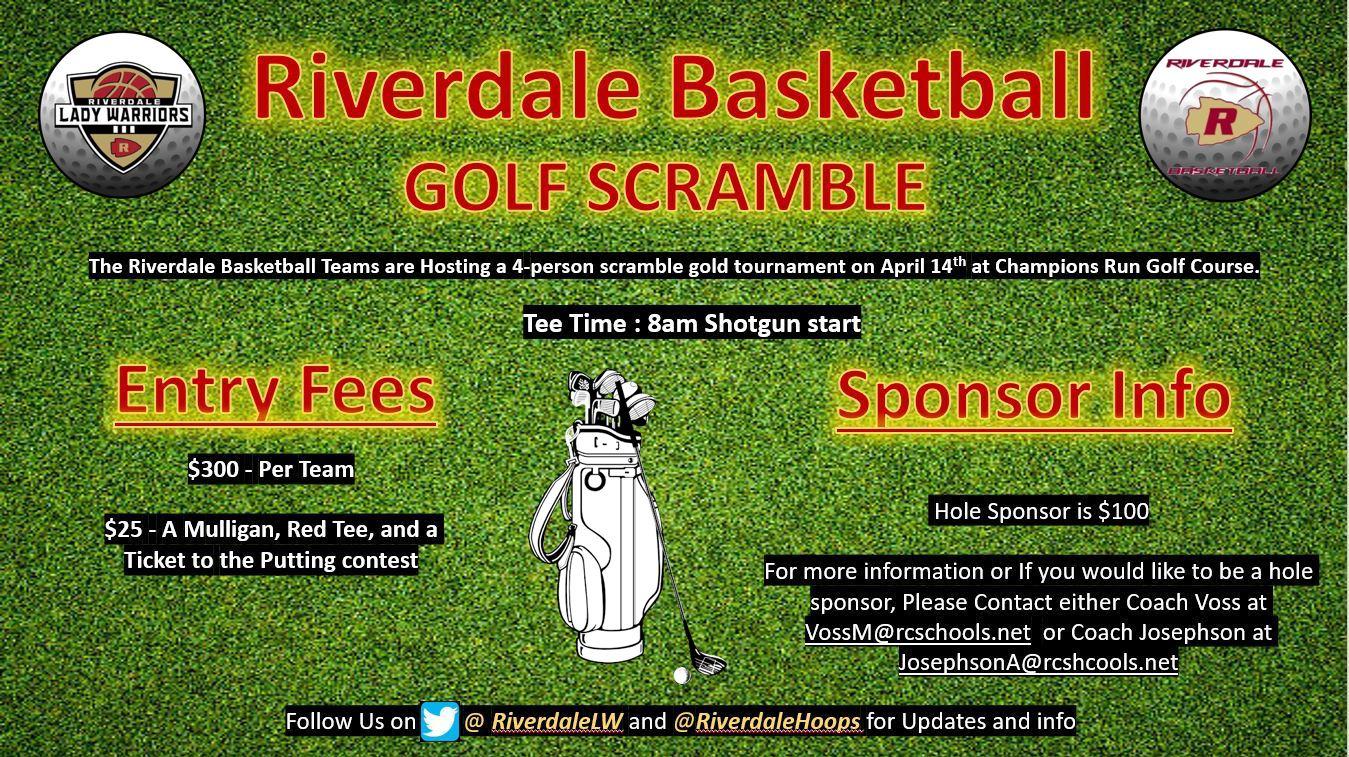 Golf Scramble for Basketball April 14th