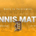 Girls Tennis Match vs Farmington