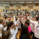 Girls Varsity Volleyball beats Roy 3 – 0