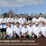 Boys Tennis Tryouts 2/24 to 2/26