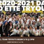 Drill Team Tryouts Begin 3/18