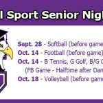 Fall Senior Nights