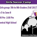 Girls Soccer Camp