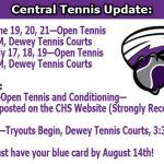 Tennis Updates!