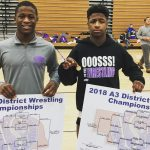 Wrestling District Champions Deon Davis and Emilio Haynes