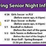 Spring Senior Nights