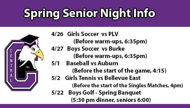 Spring Senior Nights