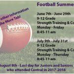 Football Summer Info