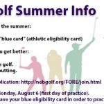 Golf Summer Info