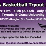 Girls Basketball Tryout Information