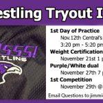 Wrestling Tryout Info