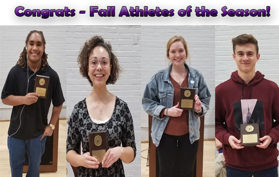 Congrats – Fall Athletes of the Season