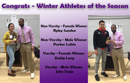 Congrats to our Winter Athletes of the Season