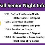 Fall Senior Night Info