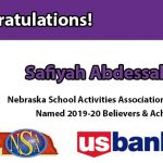 Congrats Saifyah – 2019 Believer and Achiever Award