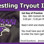 Wrestling Tryout Info