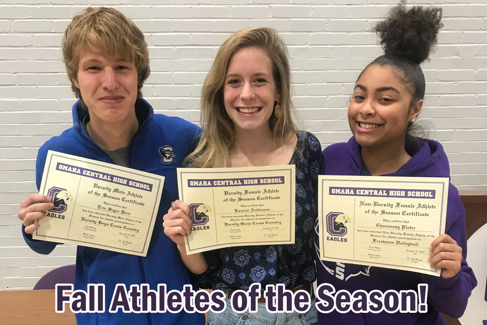 Fall Athletes of the Season