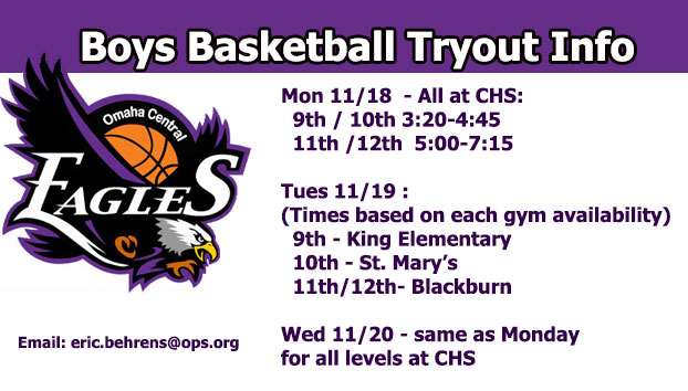Boys Basketball Tryout Info