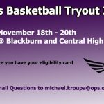 Girls Basketball Tryout Info