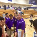 Boys Volleyball Coach, Paul Chiu, earns his 200th Career Win!