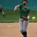 Varsity Softball pitching by Gentry shuts out South River, Wildcats take the win