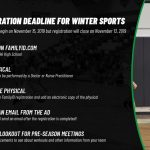 Reminders about Winter Sports!