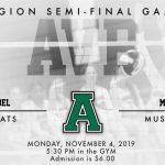 AVB Playoffs- Monday, November 4, 2019