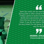 Spirit Bus and Tickets for this Friday's Football Game at Quince Orchard