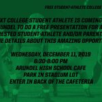 REMINDER: Free Student-Athlete College Recruiting Night Tomorrow