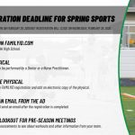 SPRING SPORTS REGISTRATION IS NOW OPEN