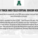 Virtual Senior Night 2020: Outdoor Track and Field