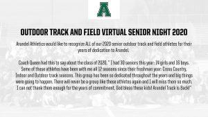 Outdoor Track Senior Class 2020