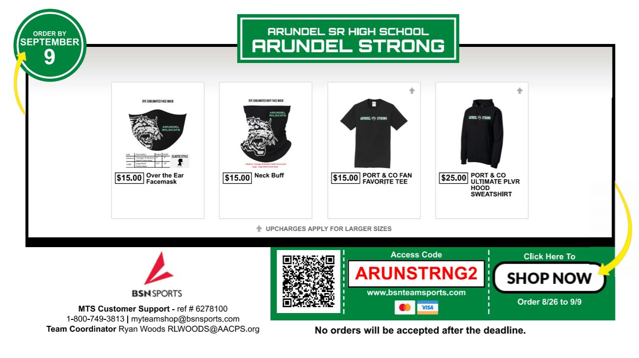 Arundel Strong Fundraiser to close TONIGHT!