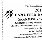Flier Football Foundation Game Feed 2017