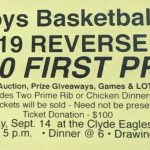 Boys Basketball Reverse Raffle – Saturday, September 14th, 2019